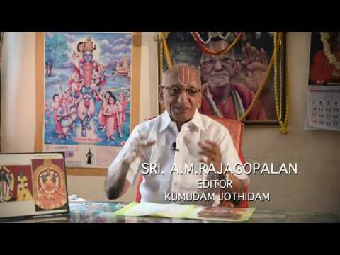 KUMUDAM JOTHIDAM EDITOR Sri A M Rajagopalan's appeal