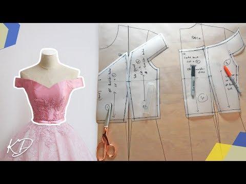 off-shoulder-bodice-pattern-tutorial-|-kim-dave