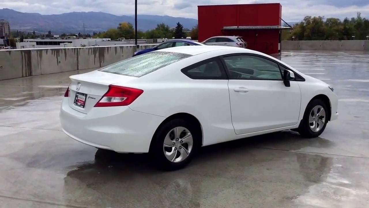 2013 Honda Civic Coupe >> 2013 Honda Civic Coupe Harmony Honda White U5374 Kelowna Bc