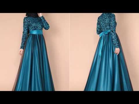 ModaSelvim 2017 Tesettür Abiye Mezuniyet Elbisesi Modelleri
