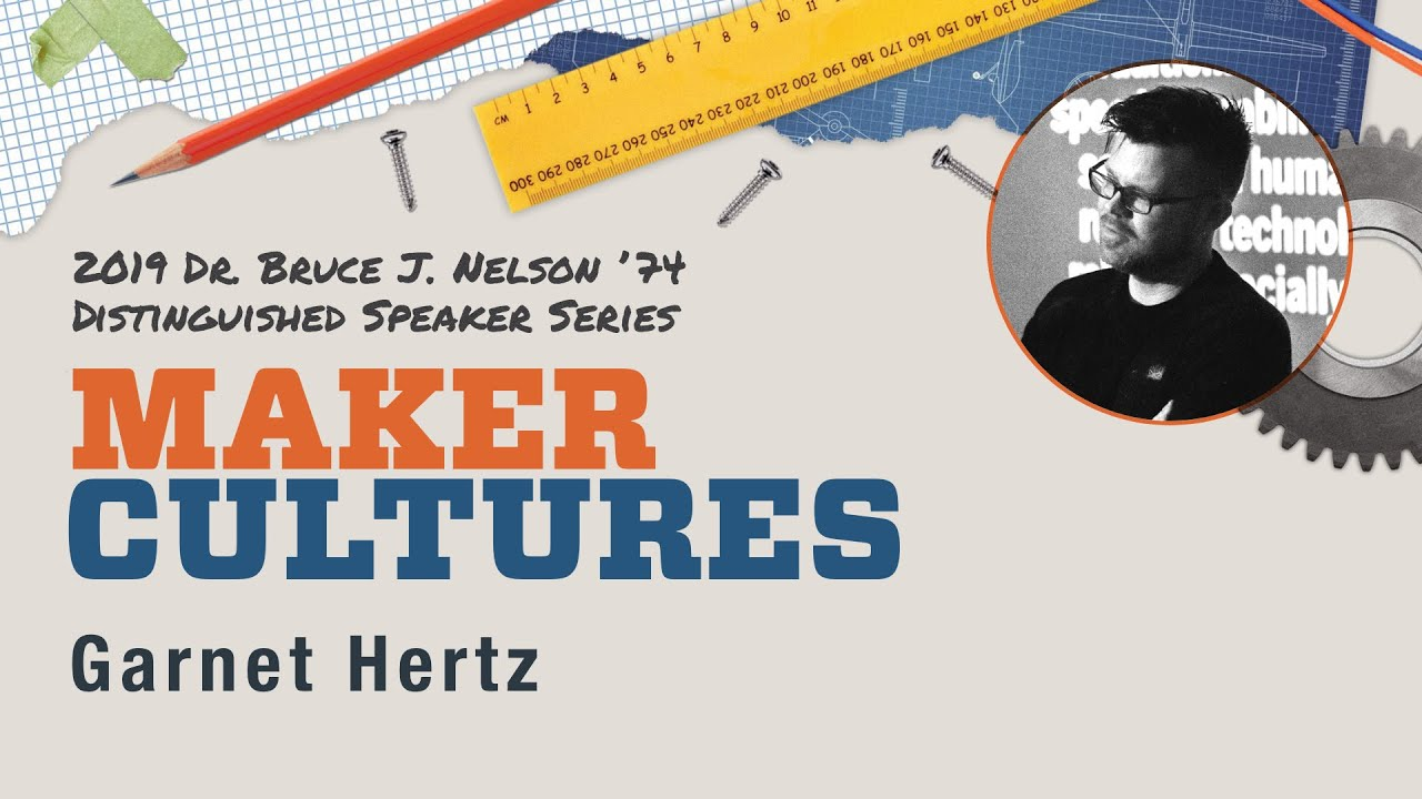 Design and Media Arts Professor Garnet Hertz - 2019 Nelson Speaker Series