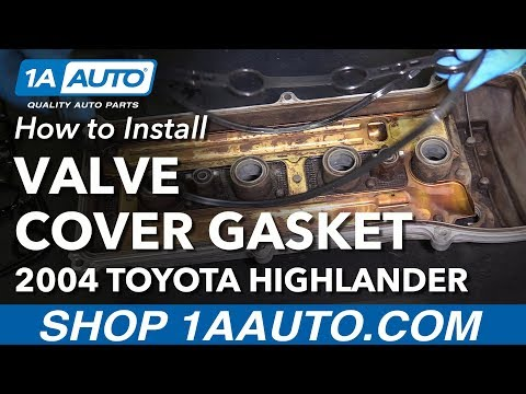 How to Install Replace Bad Leaking Valve Cover Gasket 2001-07 Toyota Highlander