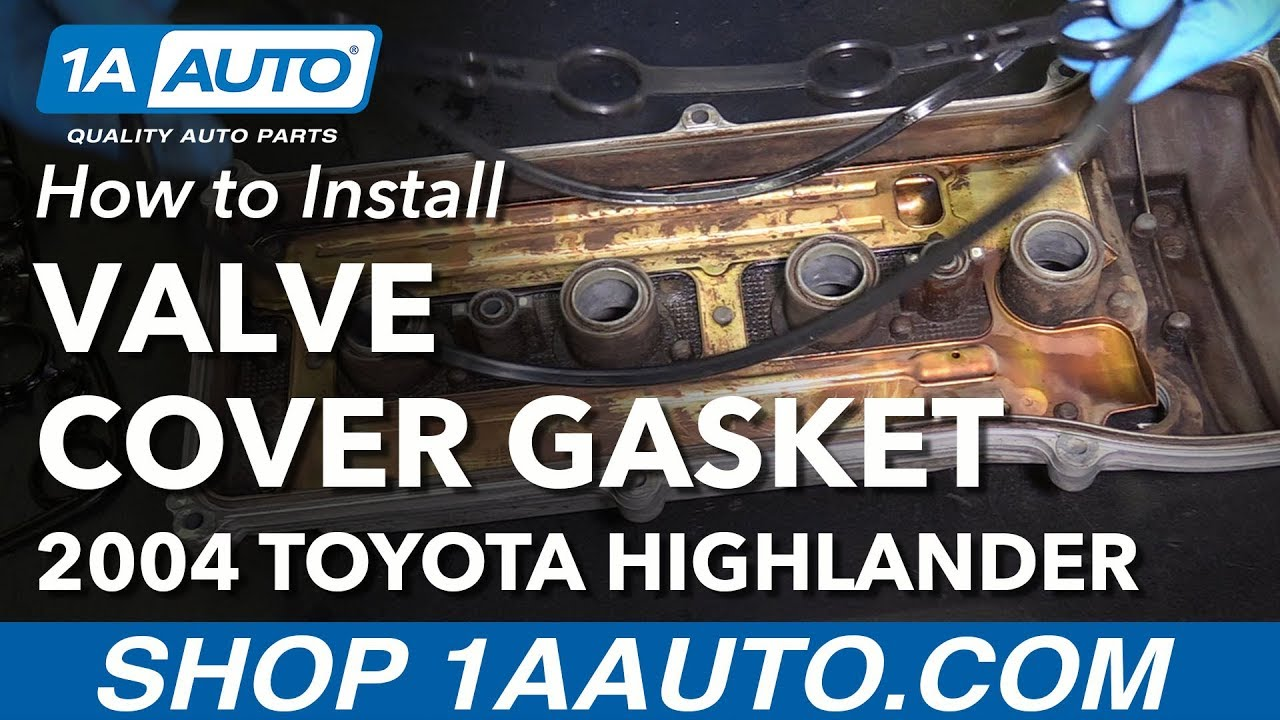 how to replace bad leaking valve cover gasket 01 07 toyota highlander [ 1280 x 720 Pixel ]