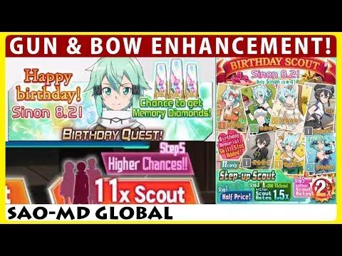 Sinon's Birthday - Gun & Bow Enhancement - Step 5 Scout Festa Banner (SAO Memory Defrag)