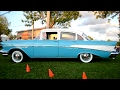 TWO BLUE '57 CHEVYS - 210 FOUR DOOR SEDAN AND STATION WAGON