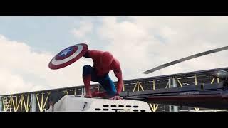 Capitão América:Guerra Civil (HD) melhores cenas do homem aranha