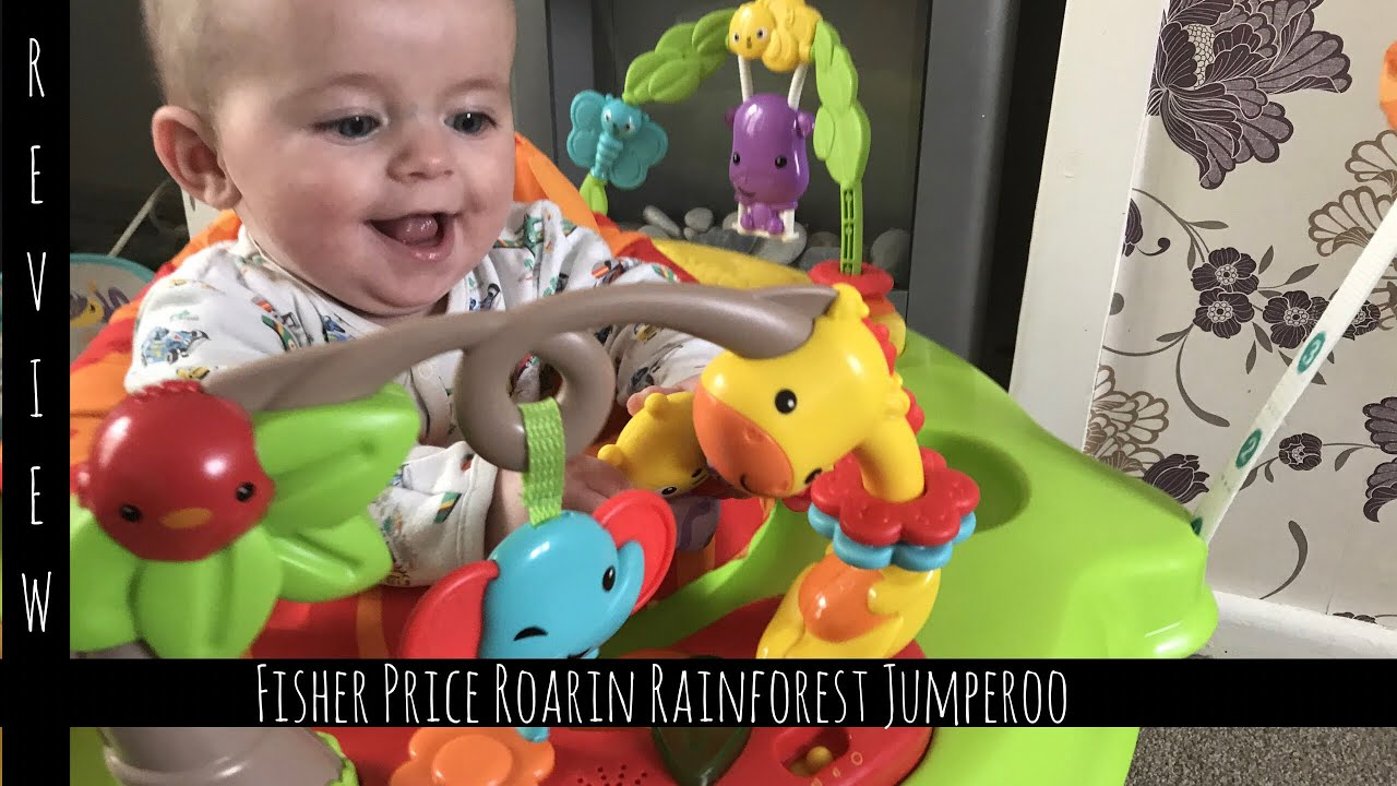 e05e48785 Review  Fisher Price Roaring Rainforest Jumperoo  Mrs Hible - YouTube