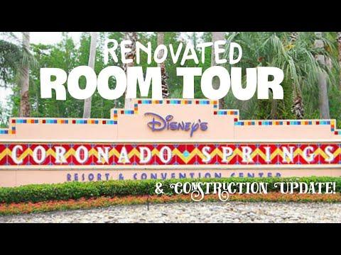 Disney's Coronado Springs Construction update and Renovated room Tour!