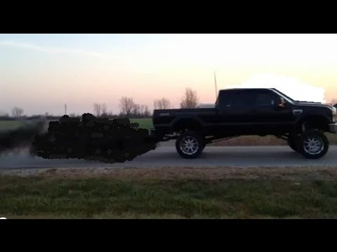 Ford F 250 Lifted >> Rollin Coal in Lifted 6.4 & 7.3 Powerstroke Diesels - YouTube