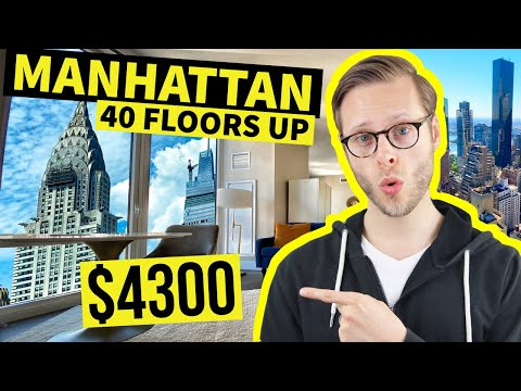 THIS $4300 Luxury Apartment Towers over NYC | 40th Floor Views!
