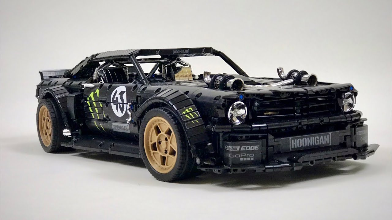 Heres ken blocks ford mustang hoonicorn built from lego blocks