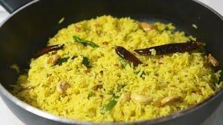 Lemon Rice - Nimmakaya Pulihora - Quick And Easy South Indian Rice Recipe