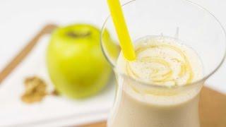 Как приготовить белый коктейль из яблока и орехов, который поможет контролировать тревожность(
