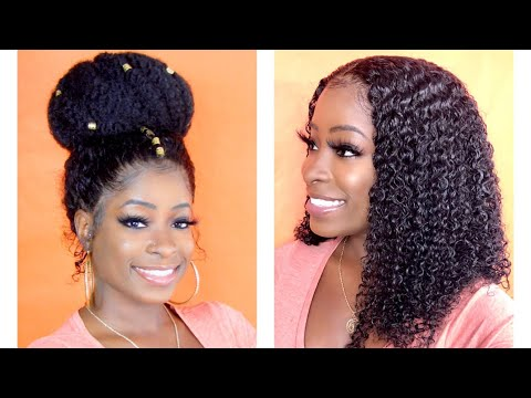 5 WAYS TO STYLE WOWAFRICAN WIG (HOW TO CUSTOMIZE A 360 LACE FRONTAL WIG)
