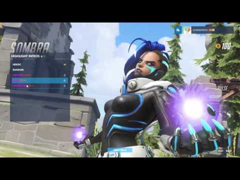 Sombra - Cyberspace - Overwatch Legendary Skin Spotlight (all intros, emotes, poses)