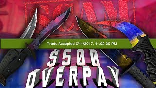 A CS:GO Scammer Offered me $500 OVERPAY! | Trolling CS:GO Scammers thumbnail