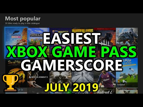 EASIEST Xbox Game Pass Games For Gamerscore, Achievements, & Completions - UPDATED July 2019