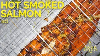 HOT SMOKED SALMON | Cooked on the beech