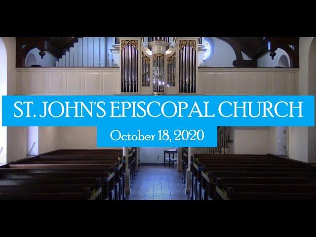 St. John's indoor service October 18, 2020