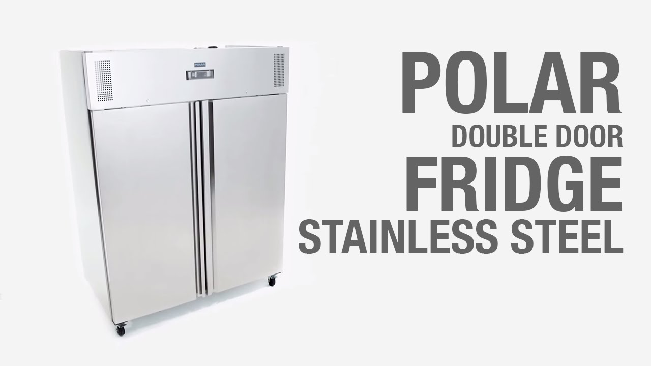 Polar Double Door Stainless Steel 1200Ltr Fridge (G594)