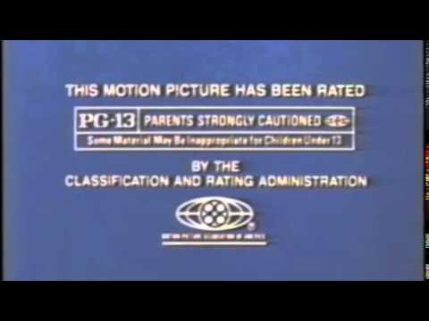 MPAA PG 13 Rating 1985