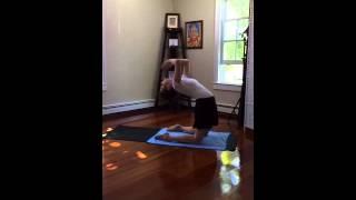 Yoga trying Kapotasana on Periscope