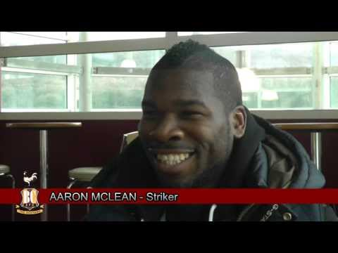 Aaron Mclean first interview for Bradford City
