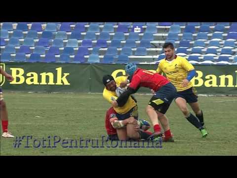 #RugbyRomania  Momente ale victoriei cu Spania, 13-3