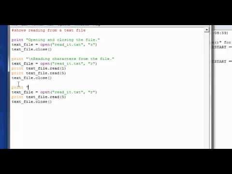 Basic Python Tutorial 23 - Reading a text file