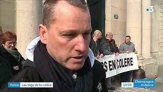 Hommage à Xavier Jugelé des policiers du Grand Est