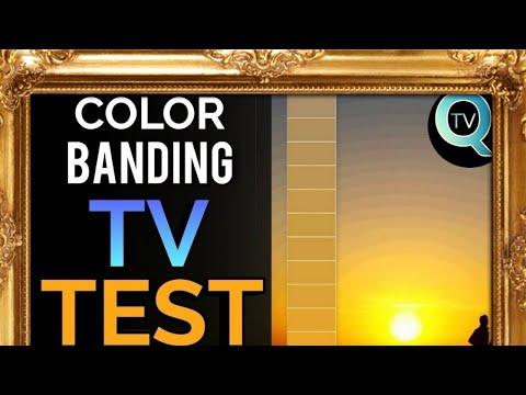 4K TV Color Banding Test