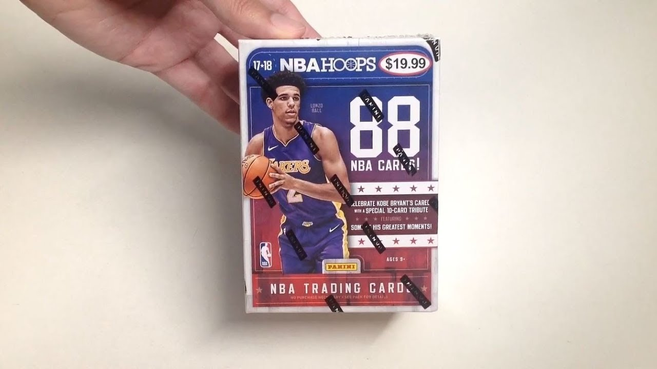 fa2fafd86be Panini 2017-18 NBA Hoops Basketball Cards Unboxing - YouTube
