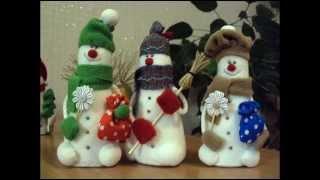 Як зробити сніговика своїми руками