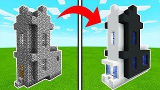 Minecraft Tutorial: How To Transform a Village Church Into A Modern Church