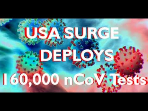 CDC Deploys 160,000  Covid-19 Tests Inside USA = CHINA Sized Outbreak