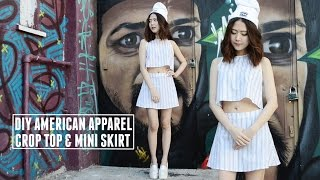 DIY American Apparel Grid Print Lulu Crop Top & Mini Skirt