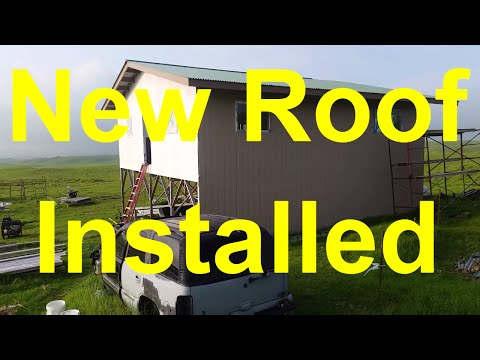 Off Grid Living - New Roof Installed Off Grid Home