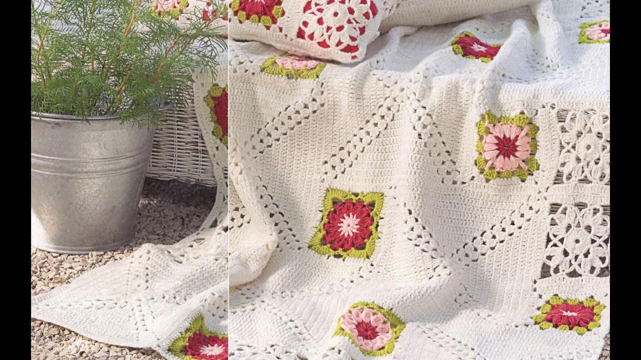 Crochet Patterns For Free Vintage Crochet Bedspread 2075 Youtube