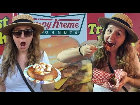 The Ultimate Fair Food Taste Test: Deep Fried Pizza, Deep Fried SlimFast Bar & More!