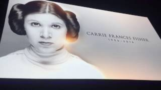 Carrie Fisher's Tribute at Star Wars 40th Anniversary Panel