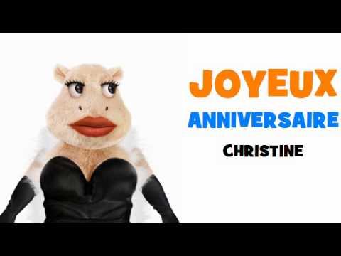 Joyeux Anniversaire Christine Youtube