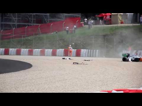 F1 Barcelona crash 2009