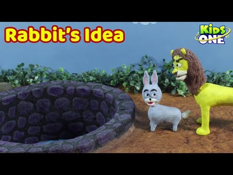 Rabbit's Clever Idea Story | Panchatantra Moral Stories for Kids | KidsOne