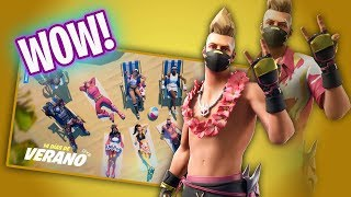 LAS SKINS DE VERANO DE FORTNITE!!! Fortnite Battle Royale - Luzu