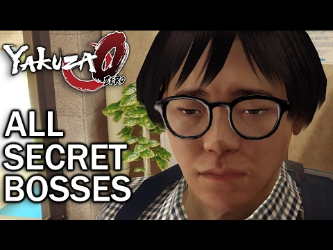 Yakuza 0: All Secret Bosses (1080p 60fps)