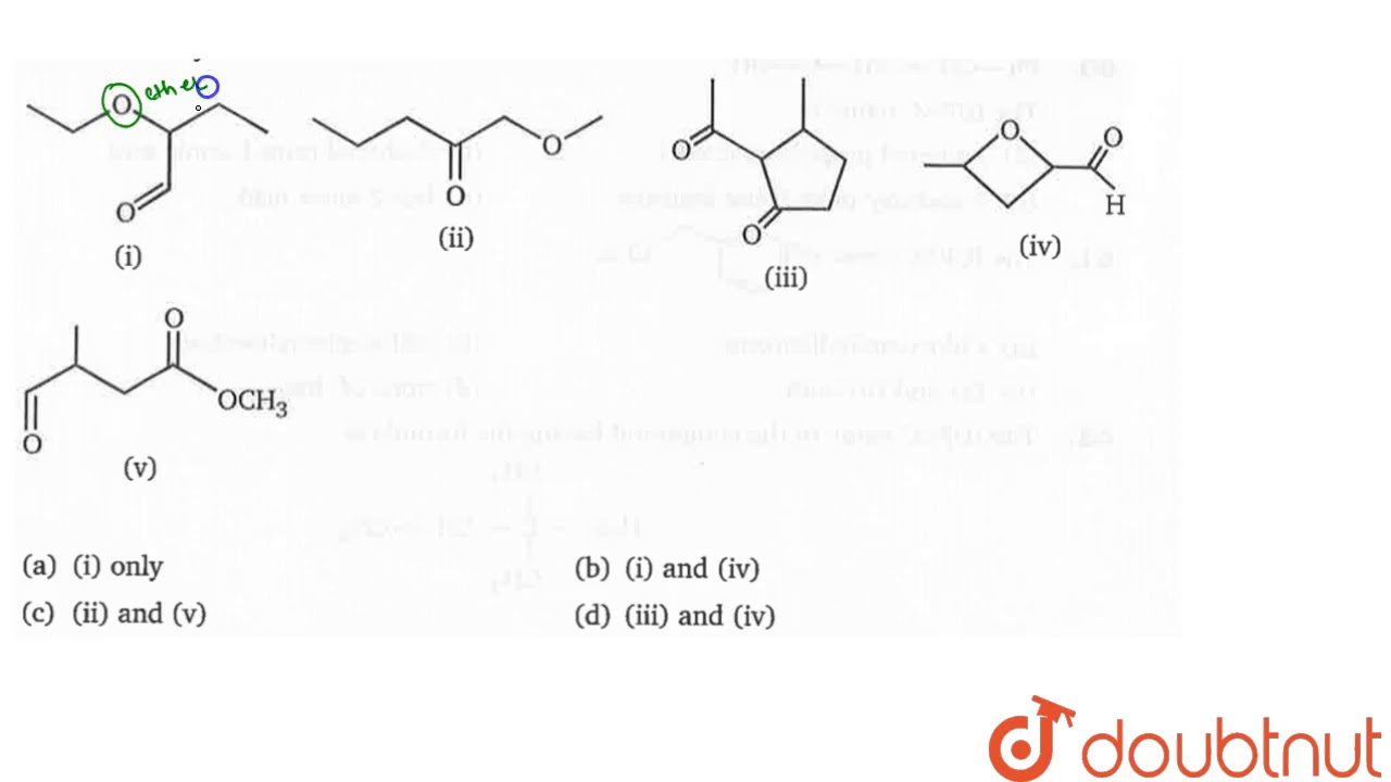 Many organic compounds contain more than one functional