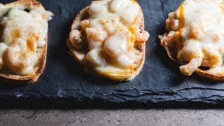 Blue Cheese Shrimp Toasts
