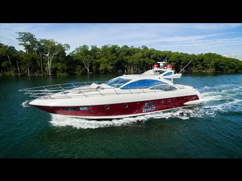 62' Azimut 62S Yacht in Miami, FL [Drone Video]