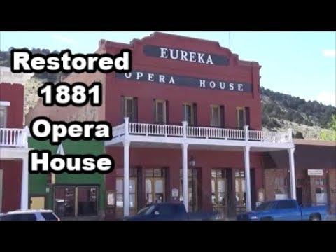 Historic 1881 Eureka Opera House in Nevada - Road Trip Vlog 17