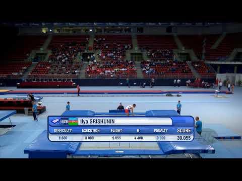 GRISHUNIN Ilya (AZE) - 2017 Trampoline Worlds, Sofia (BUL) - Qualification Trampoline Routine 2